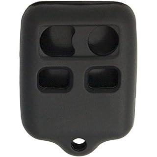 Sale Off Keyless2Go New Silicone Cover Protective Case for 4 Button Remote Key Fobs FCC CWTWB1U345 CWTWB1U331 - Black