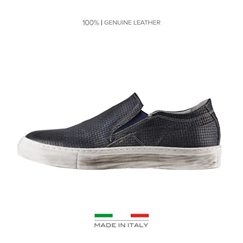 Made in Italia Herren Martino Slip-On Blau
