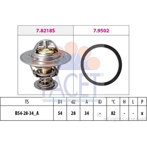 Facet - Engine Coolant Thermostat - 7.8218