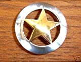 Western Decor Silver 6 Conchos Ranger Gold Star 1-1/8""