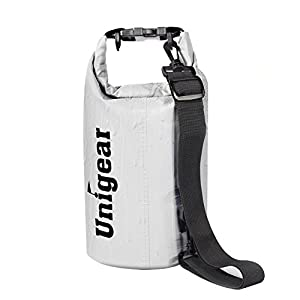 Dry Bag Sack, Waterproof Floating Dry Gear Bags for Boating, Kayaking, Fishing, Rafting, Swimming, Camping and Snowboarding (White, 10L)
