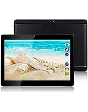 """Tablet Android - Schermo da 10"""", Quad core, RAM 4 GB, ROM 32 GB, Fotocamera, WIFI, GPS, Due slot per schede SIM, Tablet Cellulare con 3G sbloccato (Nero)"""