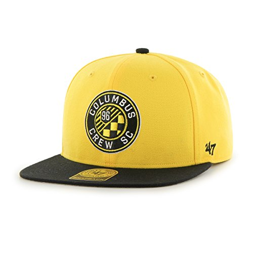 MLS Columbus Crew No Shot Two-Tone Captain Hat, One Size, Yellow Captain Yellow T-shirt