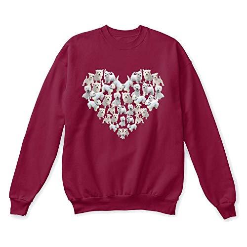(Westie. 2XL - Cardinal Sweatshirt - Hanes Unisex Crewneck Sweatshirt)