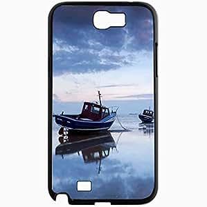 Unique Design Fashion Protective Back Cover For Samsung Galaxy Note 2 Case Boats Scenery Black