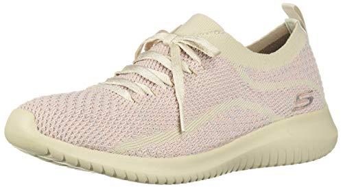 Skechers Women's Ultra Flex-Good Looking Sneaker, Natural Pink, 9 M US (Best Looking Walking Shoes For Women)