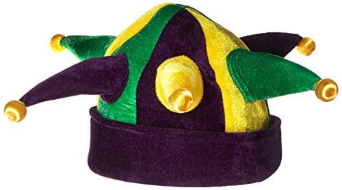 [Jacobson Hat Company Women's Velvet Light-Up Jester, Mardi Gras, Adult] (Light Up Costumes For Adults)