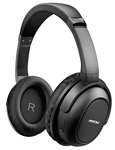 Mpow H8 Active Noise Cancelling Bluetooth Headphones, Over Ear Wireless Headphones w/mic, Hi-Fi Deep Bass, Stereo Foldable Headset with Carrying Case for PC/Cell Phone/TV