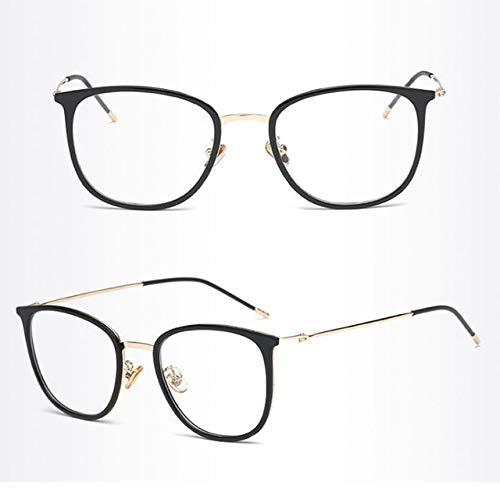 Hot Vintage Optical Eye Glasses Women Men Transparent Frame Round Metal Plain Lens Spectacles Female Eyeglasses gafas de sol - (Lenses Color: ()