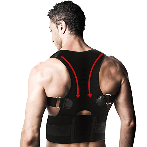 Back Posture Corrector for Women and Men-Adjustable Posture Support Clavicle Brace is Ideal for Shoulder Support, Back Brace Gives Upper Back & Neck Pain Relief – DiZiSports Store