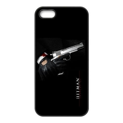 L1I32 Hitman Absolution sang C6Q6ED coque iPhone 5 5s cellulaire cas de téléphone couvercle coque noire WW7ILK4DA