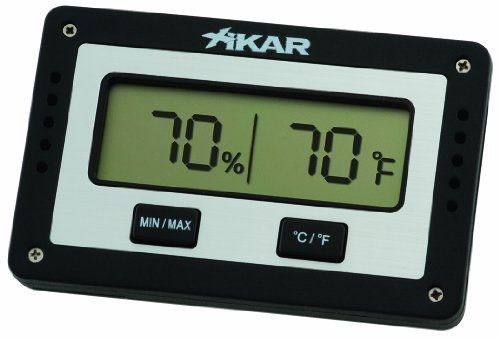 Xikar Rectangular Digital Hygrometer by Xikar