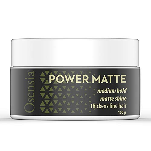 Matte Hair Clay – Water Based Pomade Hair Styling Gel with Matte Finish and Medium Hold for Natural Styling – Weightless Texture, No Residue, Thickens Fine Hair by Osensia, 3.4oz