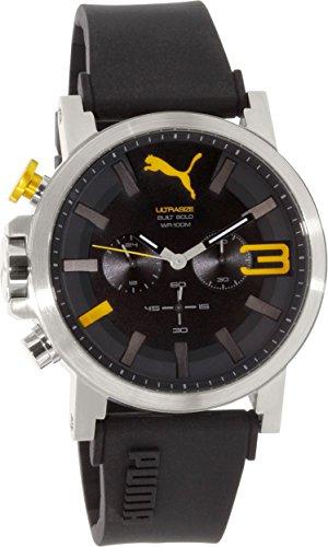 Puma Men's PU103981003 Black Rubber Quartz Watch