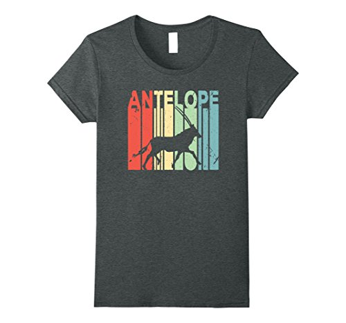 Womens Antelope Vintage T Shirt Small Dark Heather