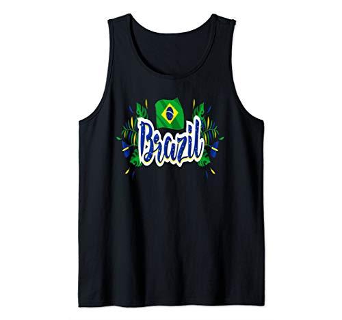 (Brazil T-shirt Brazilian Tee Flag tshirt Men Women Kid Gift Tank Top )