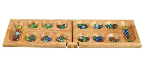 Melissa Wood Folding Mancala Board Game - 17.5 Inch ()