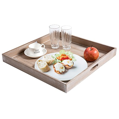 Buy wooden ottoman tray