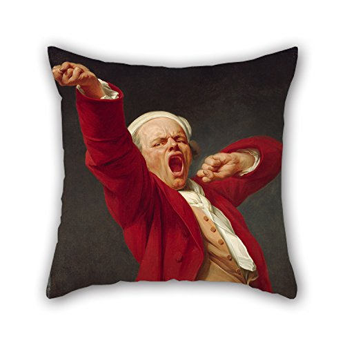 Alphadecor Oil Painting Joseph Ducreux (French - Self-Portrait, Yawning Pillow Covers 20 X 20 Inches / 50 By 50 Cm Best Choice For Husband,couples,boy Friend,club,lover,monther With Twin Sides - Brandos Costumes Filme