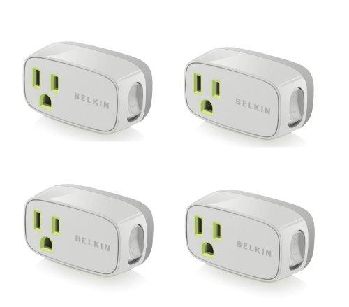 4 Pack Belkin Power Conserve Illuminated Switch F7c016q - Bulk Packaging