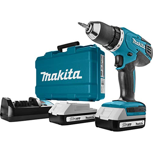 Makita HP457DWE - Taladro Percutor A Bateria 18V Litio-Ion 1 3 Ah