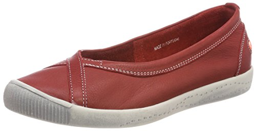 Fermé Rot red Ilma Ballerines Smooth Bout Softinos Femme axzA4fwq