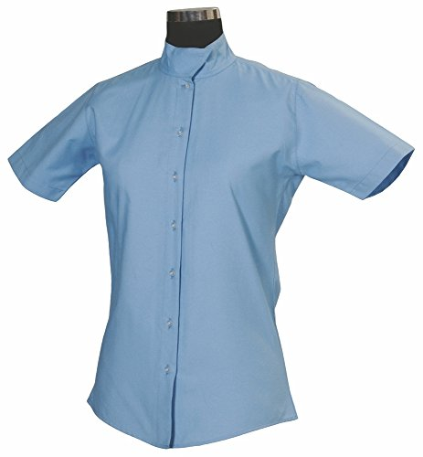 (TuffRider Women's Starter Short Sleeve Show Shirt, Light Blue, 32)