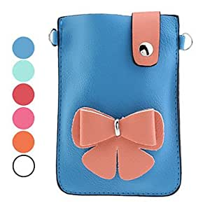 Flower Pattern PU Leather Pouches for Samsung Galaxy Note I9220 (Assorted Colors) --- COLOR:Orange