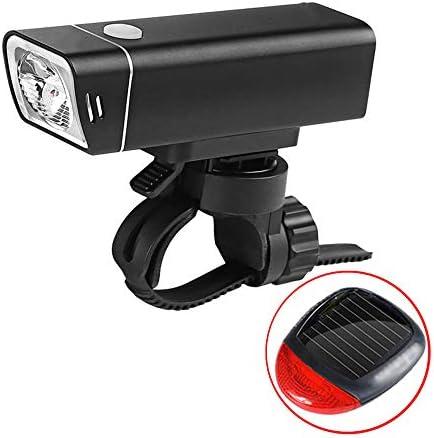 自転車ライトセット、USB充電防水360°回転式遠近調節ヘッドライトとリアライトグループ