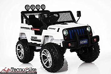 Auto Macchina Elettrica 12V Per Bambini 2 Posti Jeep Sport 4x4 2 Posti Rosso