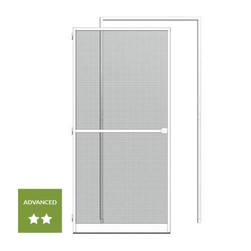 KIT porte-moustiquaire cadre tendeur 125x245cm blanc
