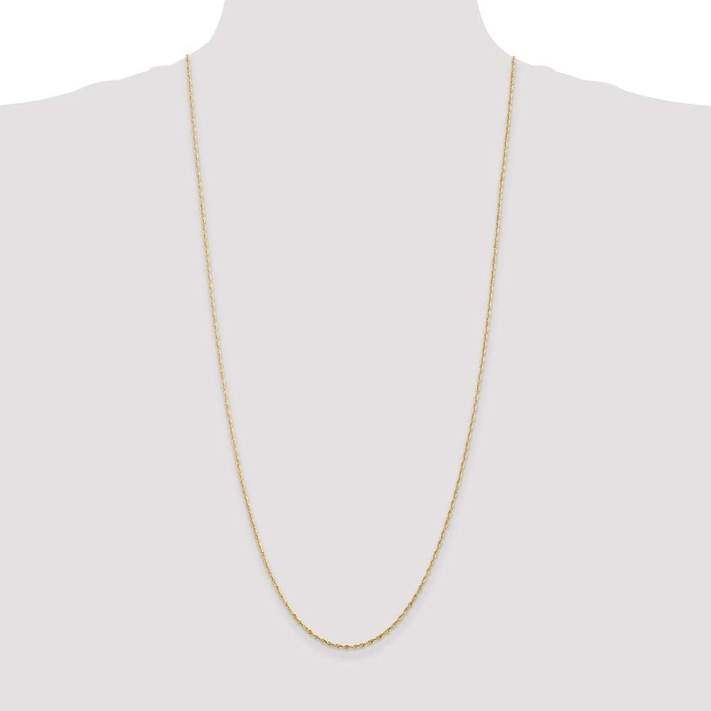 10k Yellow Gold 1.5mm Rope Chain Necklace 3.61g