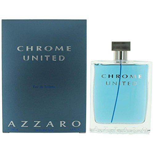 AZZARO Chrome United Eau de Toilette Spray, 6.8 Fluid Ounce