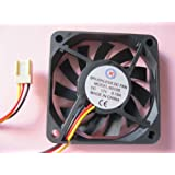 2 pcs Brushless DC Cooling Fan 12V 6010S 11 Blades 3 wire 60x60x10mm Sleeve-bearing Skywalking
