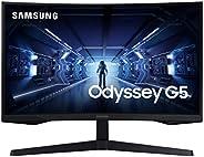 """SAMSUNG Monitor 27"""" Odyssey G5 LC27G55TQWLXZX 144Hz Respuest"""