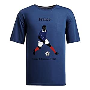 Custom Mens Cotton Short Sleeve Round Neck T-shirt,2014 Brazil FIFA World Cup teams navy by Maris's Diary