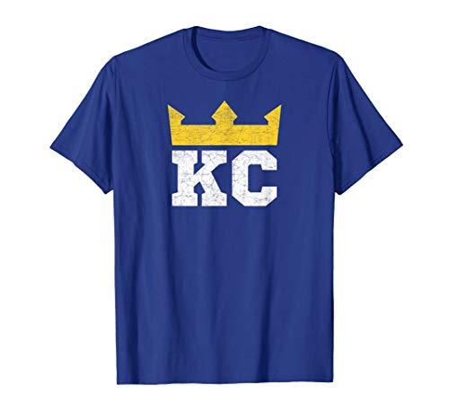 KC Royal Blue Crown Kansas City Vintage Gold K Town Pro Wear ()