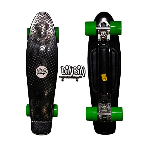 DINBIN Complete Highly Flexible Plastic Cruiser Board Mini 22 Inch Skateboards for Beginners or Professional with High…
