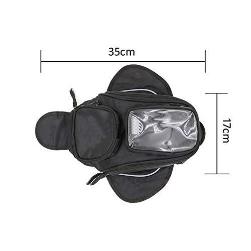 Pantalla Grande Bolsa Impermeable para dep/ósito de Combustible de Motocicleta Oxford Sill/ín Negro Universal para Motocicleta Honda Yamaha Suzuki Kawasaki Harley TUINCYN 1 Unidad