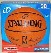 "Spalding Replica 29.5"" Full Size NBA Game Basketball Inflated In Retail Box"
