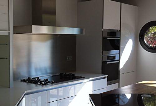 Pérgola de acero inoxidable cepillado para cocina/fondo de campana extractora.: Amazon.es: Hogar