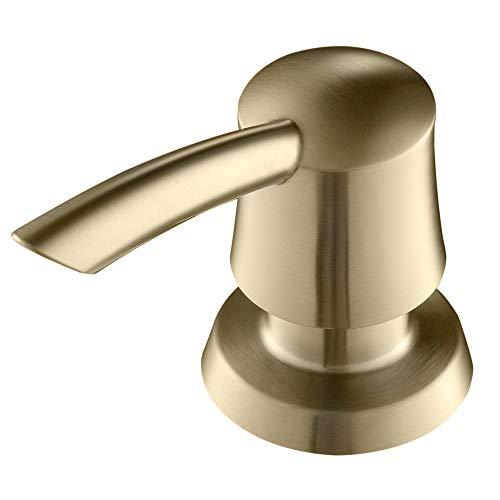 - Kraus KSD-51 Soap Dispenser for Kitchen Sink Faucet - Deck Mount (Brushed Gold)