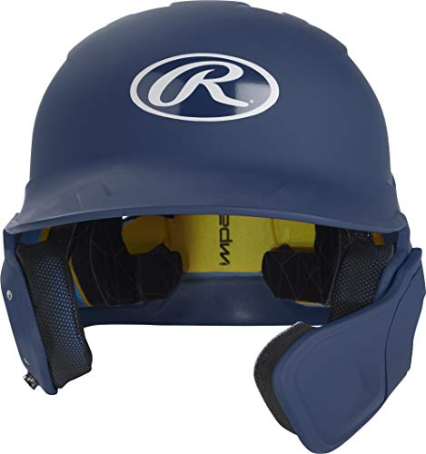 Rawlings MACHEXTR-N7-SR 2019 Mach Baseball Batting Helmet, Matte Navy (Senior Batting Helmet)