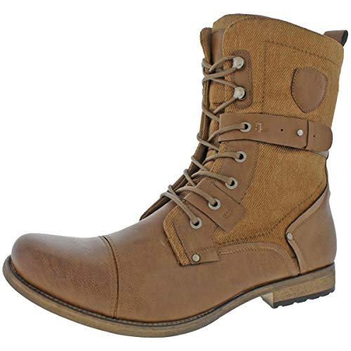 Jump J75 by Mens Deploy Lace-up Ankle Cap Toe Boots Brown 13 Medium ()