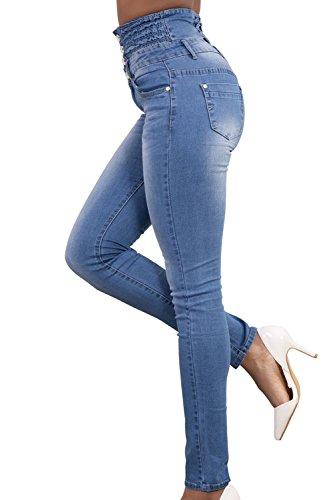 Vita Casual Matita Le Lightblue Jeans Donne Alto Skinny Per Alla wxRgWvSq