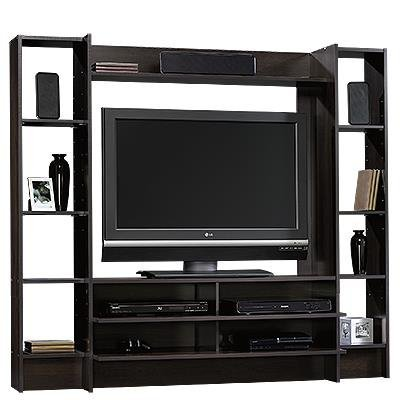 Sauder Beginnings Entertainment Wall System, Cinnamon Cherry by Sauder
