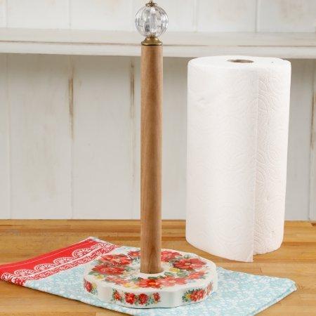 Pioneer Woman Vintage Floral Paper Towel (Ceramic Paper Towel Holder)