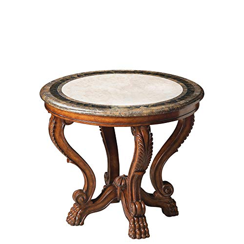 BUTLER 5026070 MABEL FOSSIL STONE FOYER TABLE ()