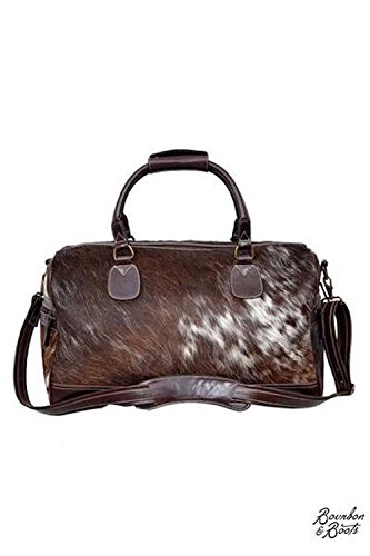 Authentic Handcrafted Cowhide Leather Overnight Duffle Bag -