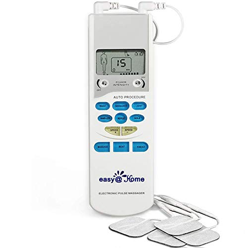 Easy@Home EHE009 TENS Handheld Electronic Pulse Massager Unit, Health Canada, OTC for Home Use, Pain Relief therapy Device - a portable Muscle Stimulator for Electrotherapy Pain Management | Pain Relief on the Shoulder, Waist, Joint, Back, Arm,Leg